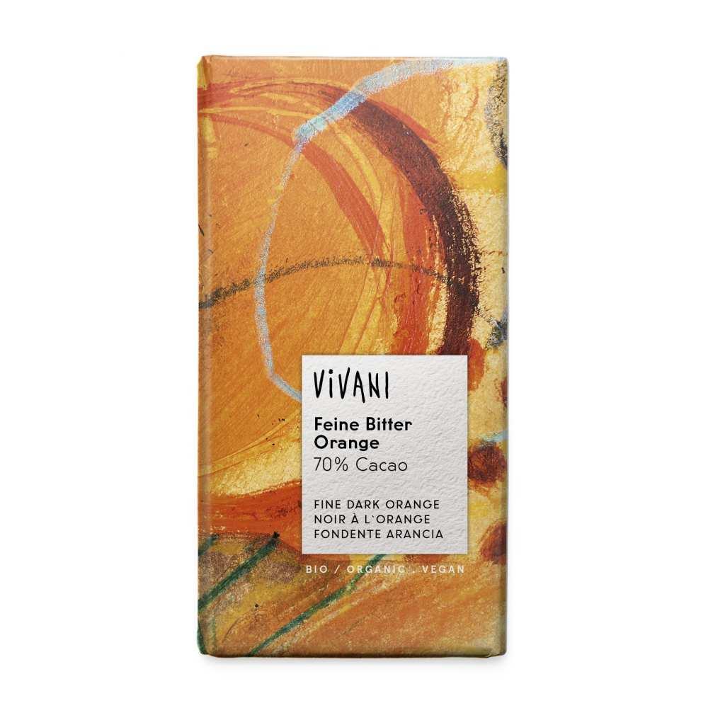 vivani feine bitter schokolade 70 orange 100g vegan g nstig bestell. Black Bedroom Furniture Sets. Home Design Ideas