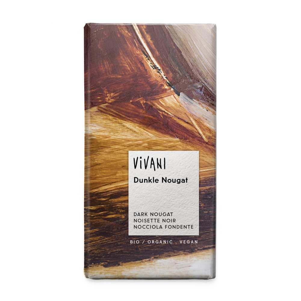 vivani schokolade dunkle nougat 100g vegan g nstig bestellen hallo. Black Bedroom Furniture Sets. Home Design Ideas