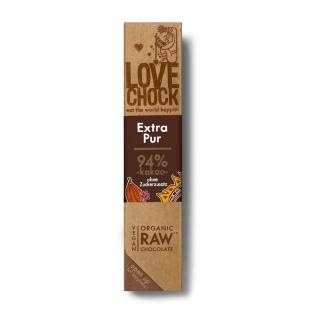 Lovechock Riegel Extra Pur 94% Kakao 40g