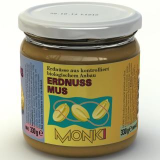 Monki Erdnussmus Smooth (fein) 330g