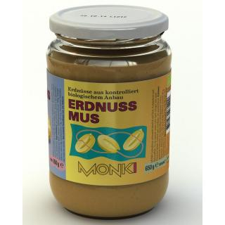 Monki Erdnussmus Smooth (fein) 650g
