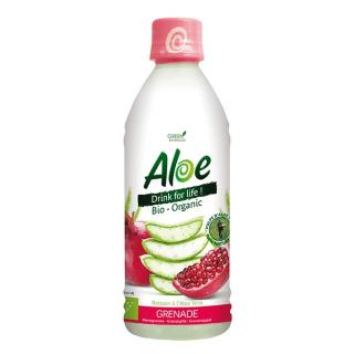 Organic Bloom Aloe Drink for Life Granatapfel 350ml