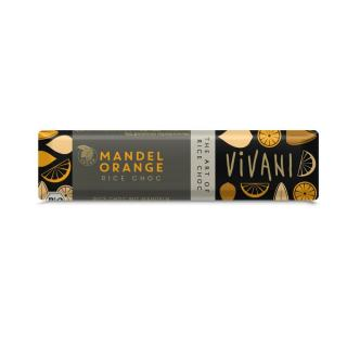 Vivani Rice Choc Riegel Mandel Orange 35g