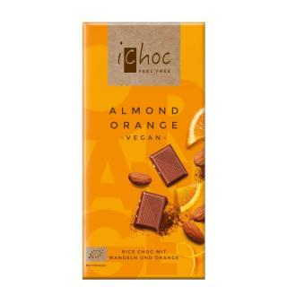 iChoc Rice Choc Schokolade Almond Orange 80g